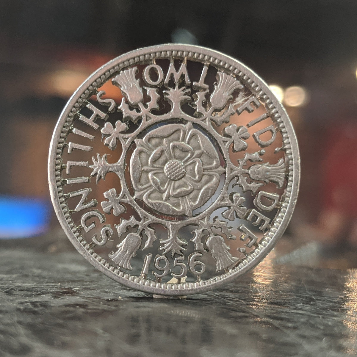1956 Two Shilling Cut Coin