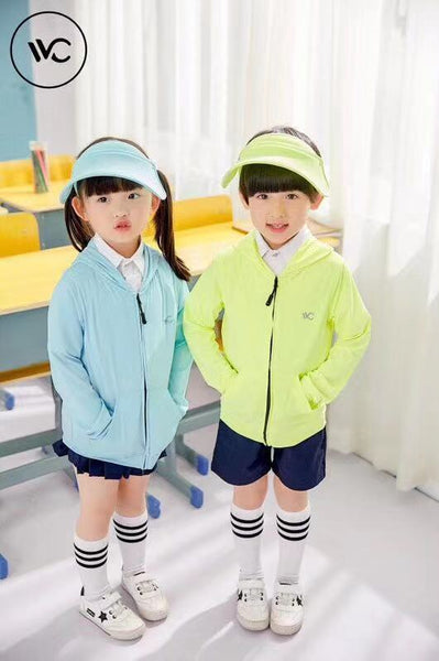 JJMG NEW UV Sun Protective Jacket and Hoodies for Kids Sunscreen Sunblock Packable Children Clothing