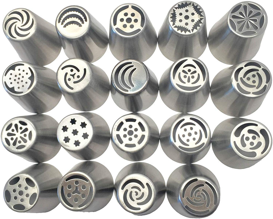 JJMG Russian Tulip Tips Stainless Steel Icing Piping Nozzles Pastry Decorating Tips Cake Cupcake Decorator icing dispenser (18)