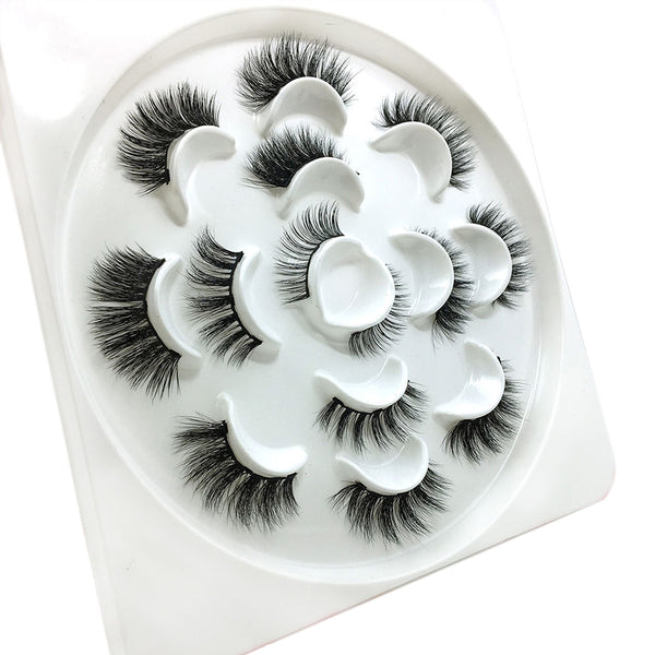 JJMG 7 Pair Easy-To-Wear Mess-Free Light Weight Magnetic Dramatic False Eyelashes Set