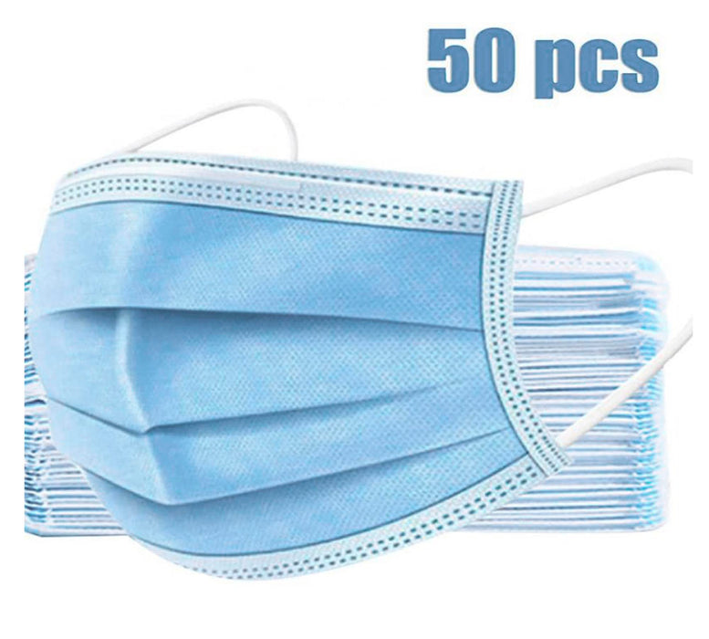 3-Ply Disposable Face Mask Latex-Free (50pcs/Box)