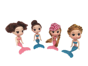 JJMG Mermaid Dolls Cake Toppers (Set of 4)