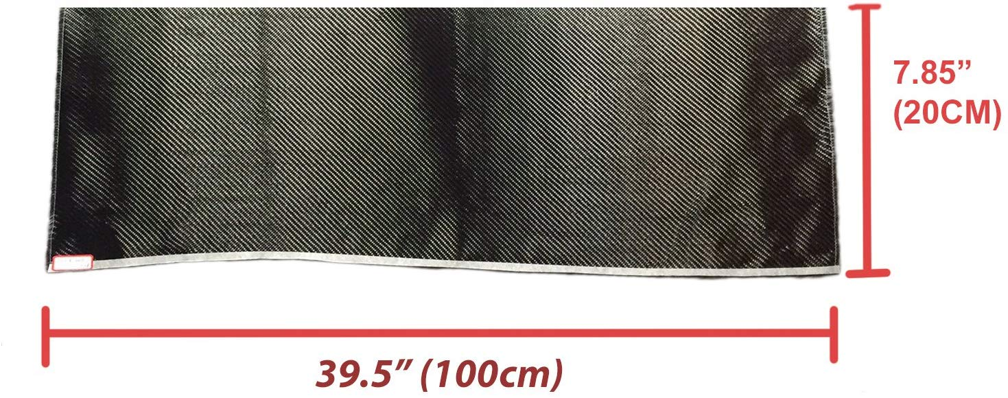 Carbon Fiber Fabrics Cloth Wrap 3k 200g/m2 Twill Weave (Black)