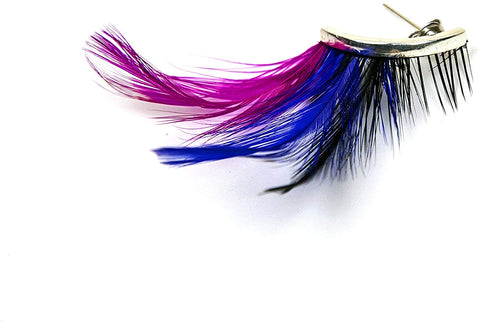 JJMG New Women Teens Fashion Feather Dangle Earrings Long Drop Bohemian Ethnic Fashion Accessories