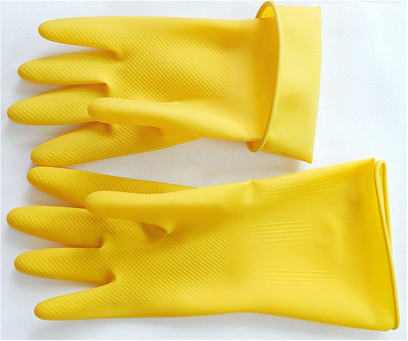 JJMG NEW Durable High Stretchable, Reusable Cleaning Rubber Gloves