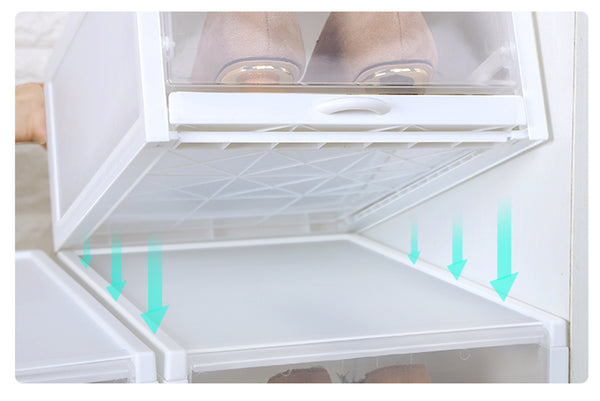 JMG Stackable Shoe Box Drawer Type Design Set of 3 Push-Pull Transparent Shoe Container Home Organizer Clear Plastic Shoe Storage  海兴鞋盒 抖音 小红书