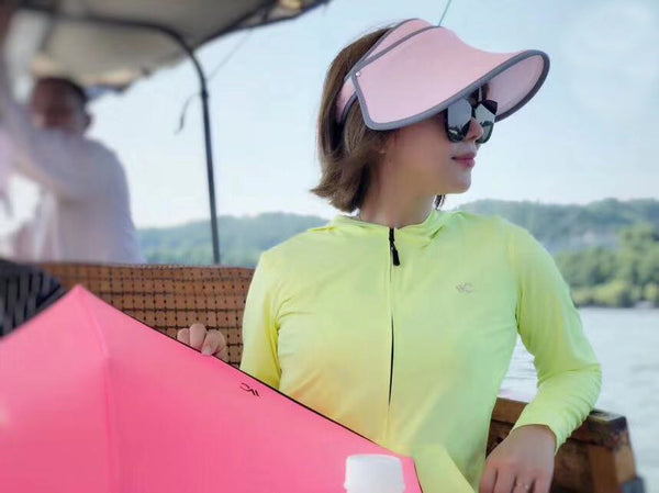 JJMG NEW VVC Women Summer Hat Large Brim Sun Visor UV Protection Beach Hat, Hiking, Playing Golf Outside Sports Activities