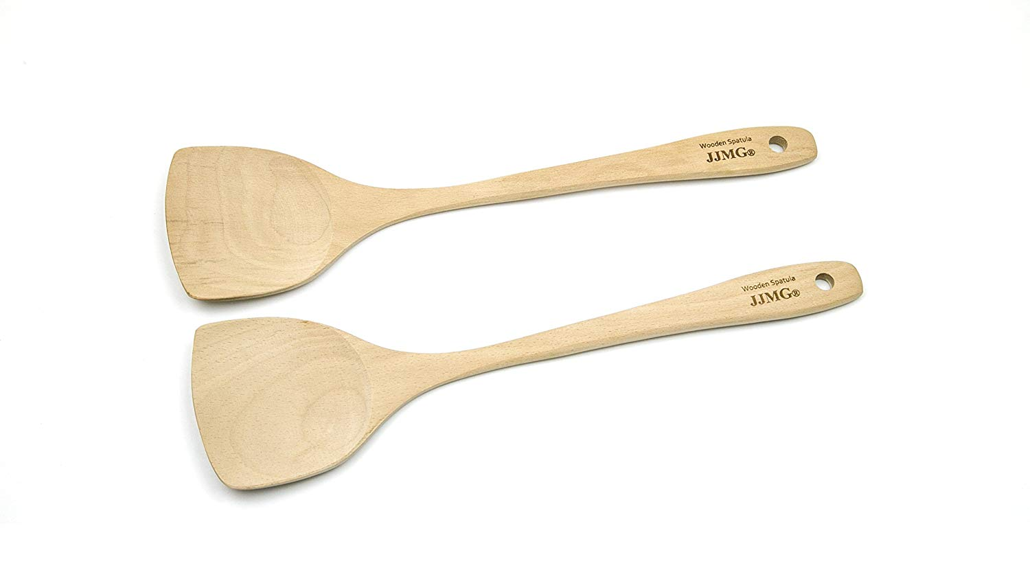 JJMG Wood Wok Spatula (Pack of 2)