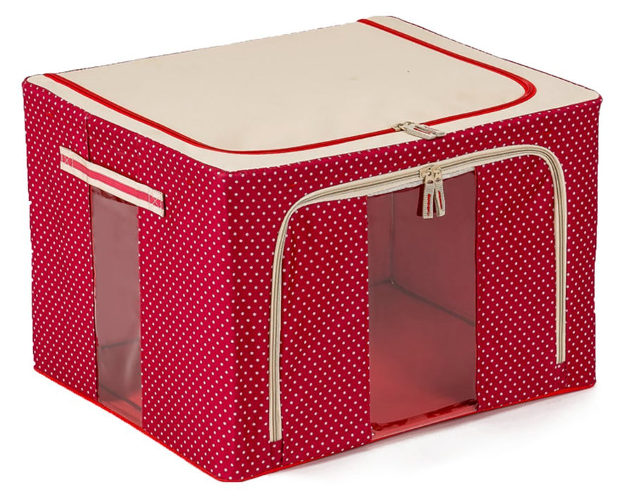 JJMG Polka Dots  Stackable Storage Box Organizer