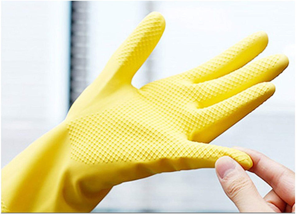 JJMG NEW Durable High Stretchability Reusable Cleaning Rubber Gloves For Kitchen Household Food Safety Medical Etc