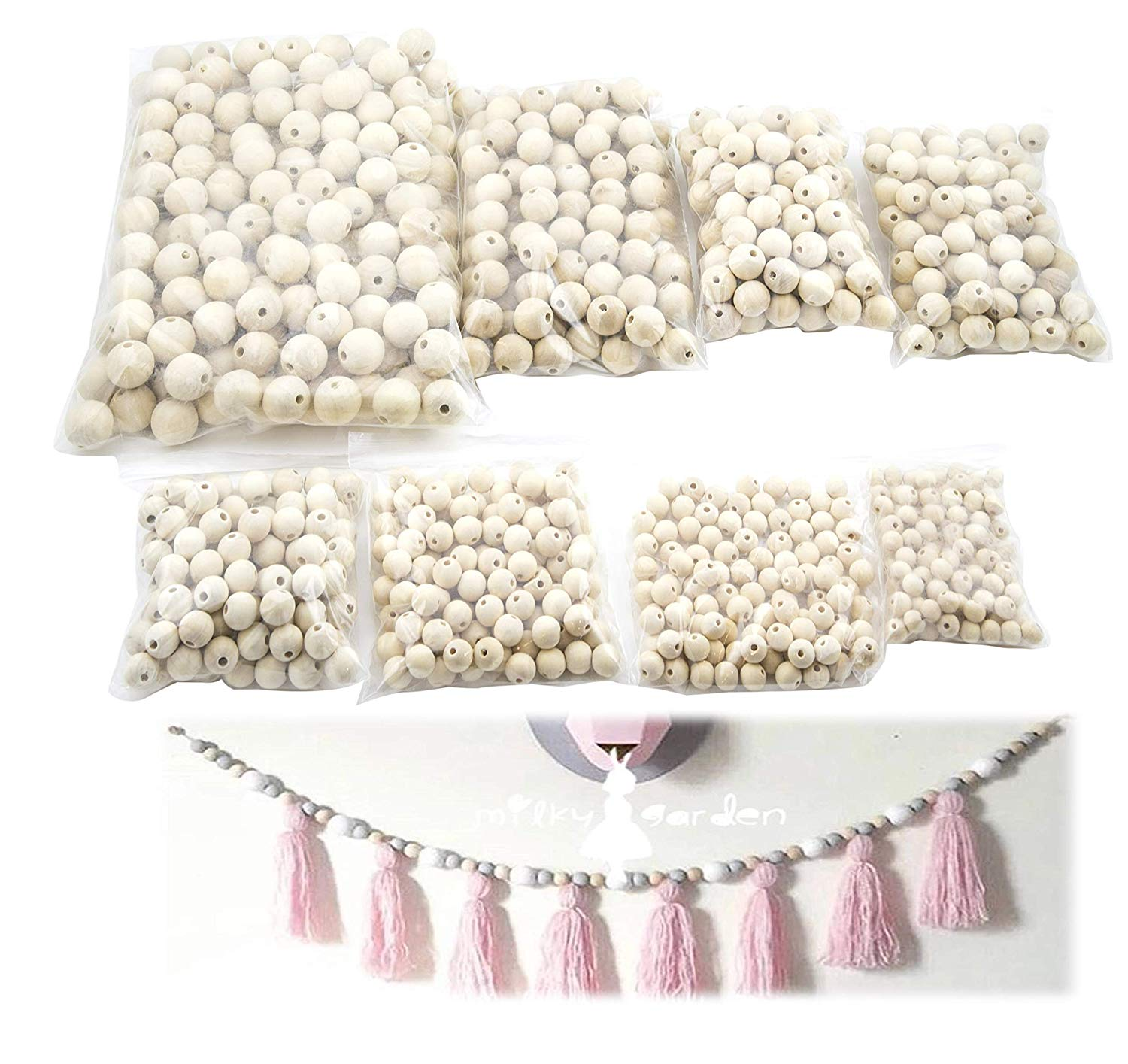JJMG Round Wooded Bead Kit