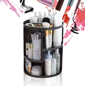 JJMG 360° Rotation Table Top Make Up Organizer