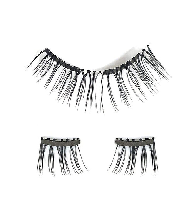 JJMG Soft Magnetic Eyelashes Extension With Dual Pairs Bendable Magnets Eyelash Glue-Free Design compare with MLEN Lashes (Full)