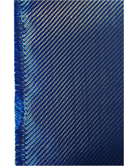 Carbon Fiber Fabrics Cloth Wrap 3k 200g/m2 Twill Weave (Blue)