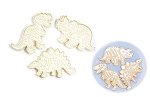 JJMG Dinosaur Fossil Shape Cookie Cutter (Set of 3)