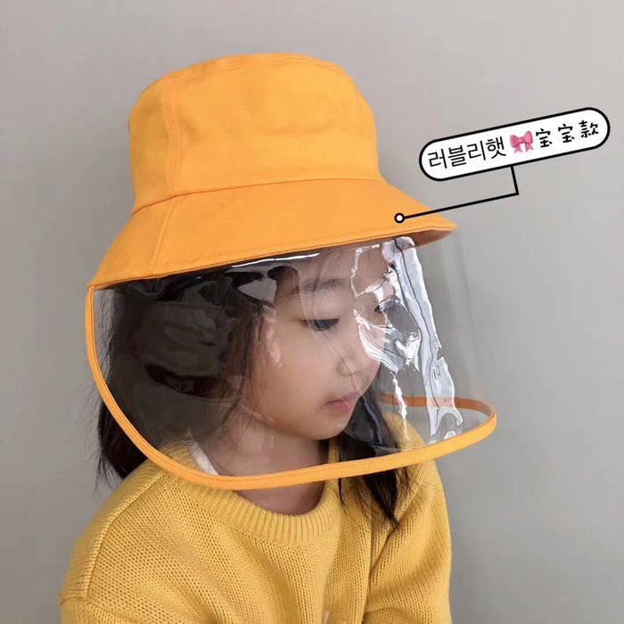 Yellow Kids Hat with Faceshield