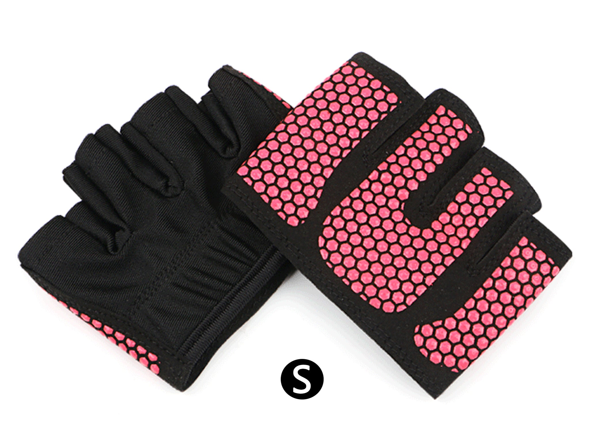 JJMG NEW Non-Slip Super Grippy Yoga Fitness Sports Half Finger Gloves