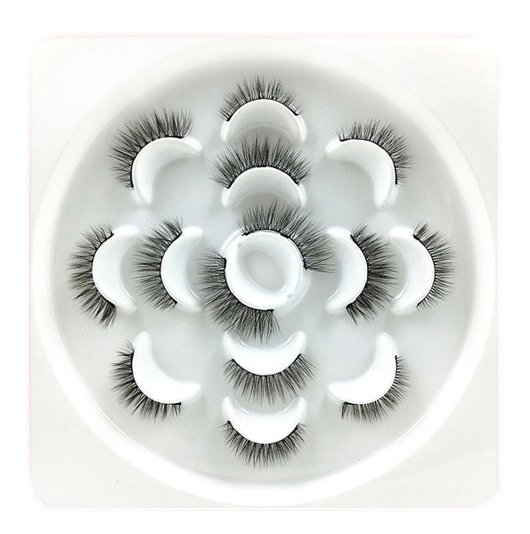 JJMG 7 Pair Easy-To-Wear Mess-Free Light Weight Magnetic Natural False Eyelashes Set