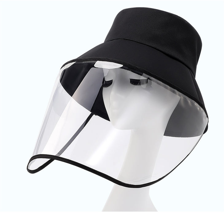 Black Adult Hat with Faceshield
