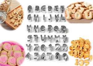 JJMG 36Pieces Alphabet letters&Numbers
