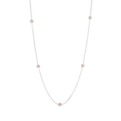 Penta Miele Silver + Champagne Diamond Necklace / Rose