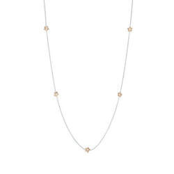 Penta Miele Silver + Champagne Diamond Necklace / Yellow