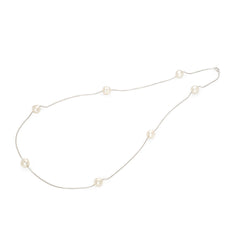 Filo Luce Silver Pearl Necklace / White