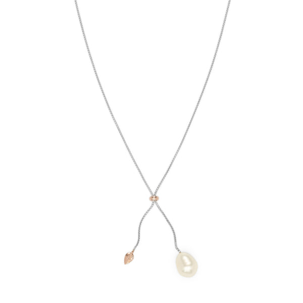 Penta Luce Champagne Diamond + Pearl Necklace / Rose