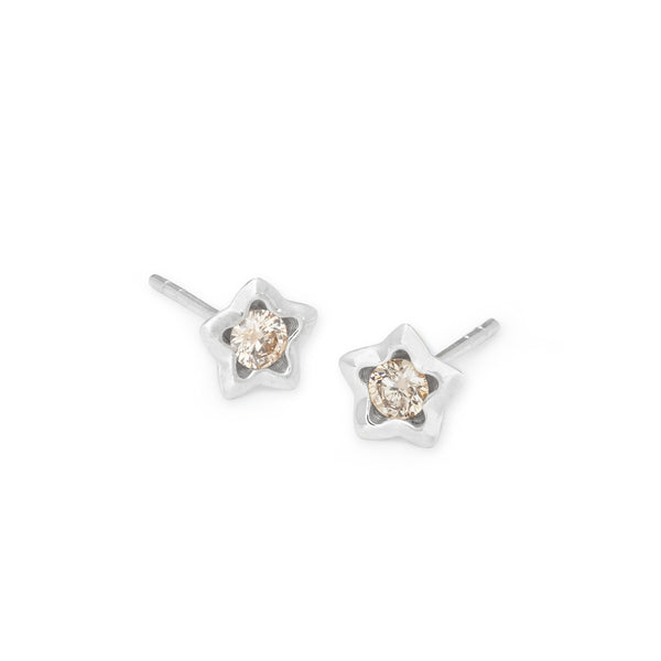 Penta Miele Earrings / White