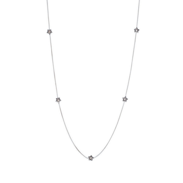 Penta Miele Silver + Champagne Diamond Necklace / Black