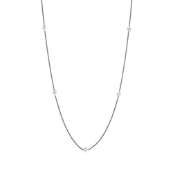 Penta Miele Silver + Champagne Diamond Necklace / Black & White