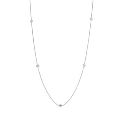 Penta Miele Silver + Champagne Diamond Necklace / White