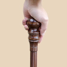 Carved Knob Cane Sturdy Walking Stick