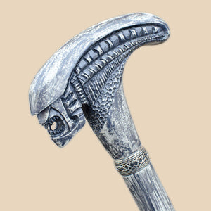 Xenomorph - Carved Alien Walking Cane for Men