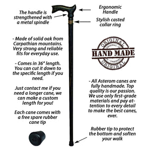 Fancy Black & Gold Cane Stylish Wooden Walking Stick