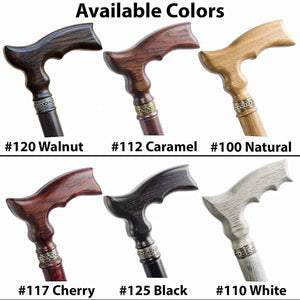 Knob Walking Stick Sturdy Wooden Cane - Custom Length & Color