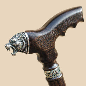 Celtic Tiger - Wooden Walking Cane for Men