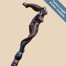 Mermaid Walking Stick Cane - Custom Length and Color