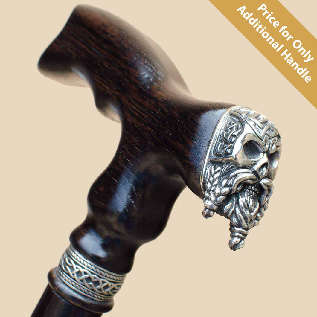 Celtic Bearded Skull Handle Only (#560477)