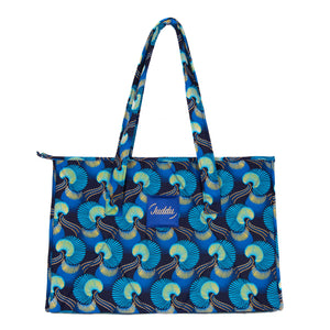 """Day Bag"" Bleu Paon"