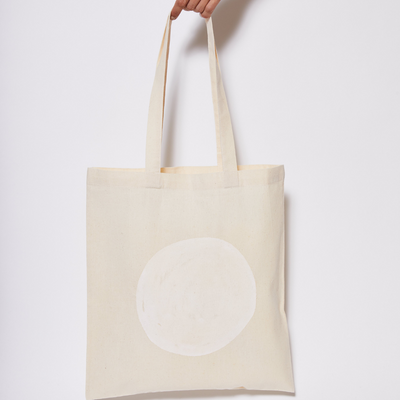 Reusable Calico Tote Bag - Chalk eclipse-Every Sunday