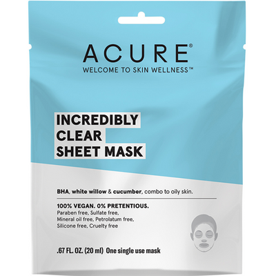 ACURE Incredibly Clear Sheet Mask-Every Sunday