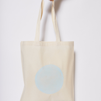 Reusable Calico Tote Bag - Pale Blue eclipse-Every Sunday