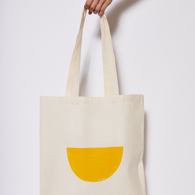 Reusable Calico Tote Bag - Turmeric half moon-Every Sunday