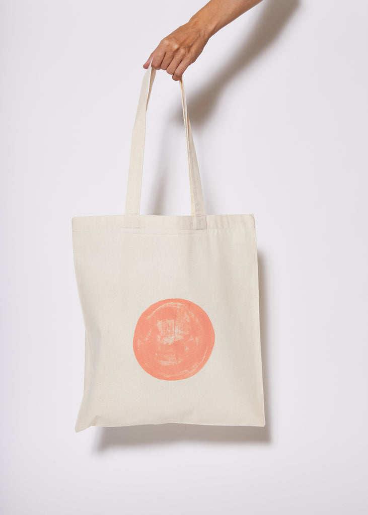 Reusable Calico Tote Bag - Lipstick eclipse