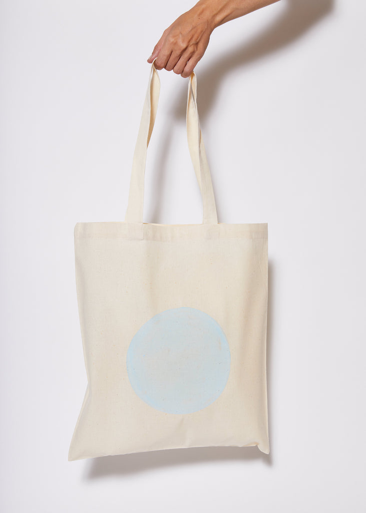 Reusable Calico Tote Bag - Pale Blue eclipse