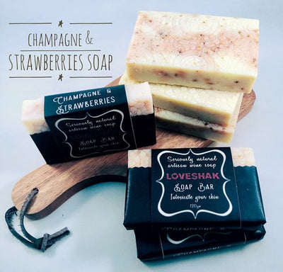 Champagne & Strawberries Soap Bar-Soap-Every Sunday