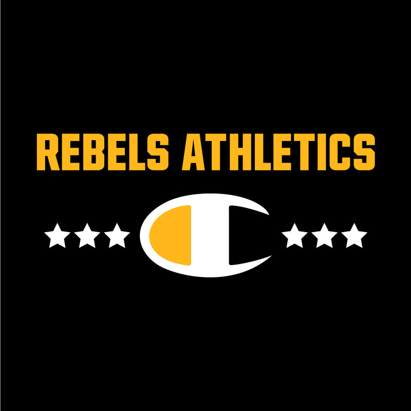 Rebels Athletics Champion® Short Sleeve T-Shirt - Black