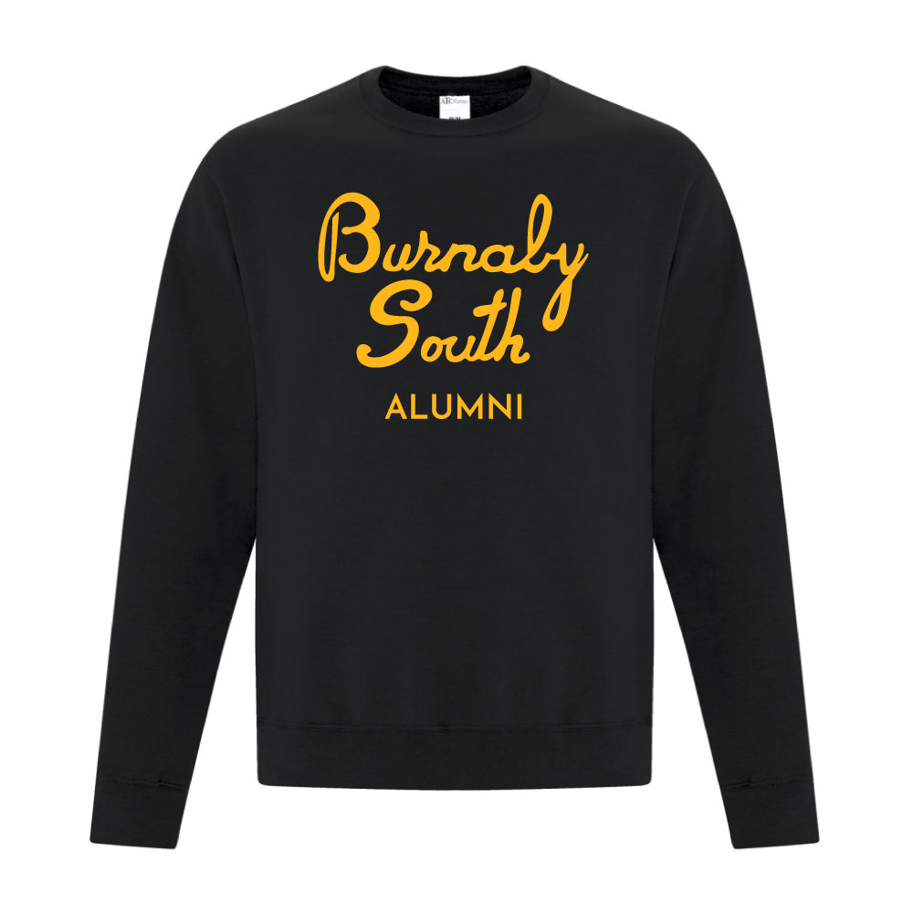 Rebels Alumni ATC™ Crewneck Sweatshirt - Vintage Burnaby South Logo - Black
