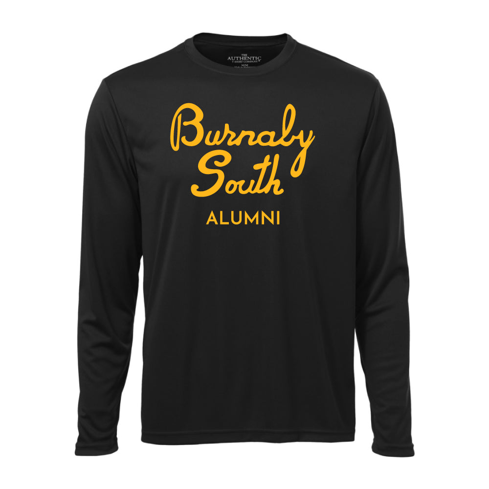 Rebels Alumni ATC™ Long Sleeve Performance Shirt - Vintage Burnaby South Logo - Black